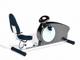 Recumbent exercise bike 3d model