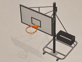 Basketball equipment goal 3d model