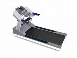 Commercial treadmill machine 3d model