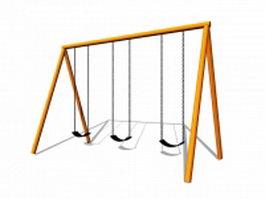 Playground swing sets 3d model