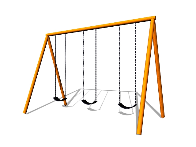 Playground Swing Sets 3d Model 3ds Max Files Free Download