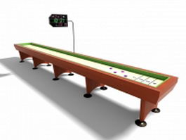 Shuffleboard table 3d model