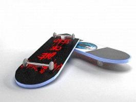 Cool skateboard 3d model