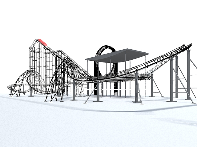 Roller coaster amusement rides 3d model 3ds Max files free download