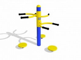 Waist twister exercise equipment 3d model
