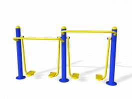Outdoor cardio walker equipment 3d model
