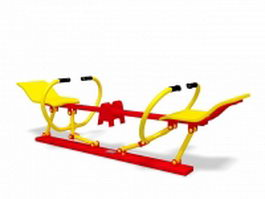 Rowing exercise equipment 3d model