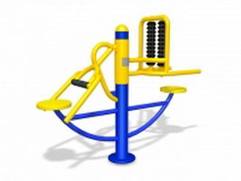 Elderly park exercise equipment 3d model