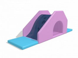 Kids inflatable water slide 3d model