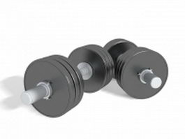 Gym dumbbell set 3d model