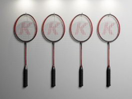 Badminton racquets 3d model