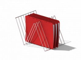 Wire file folder holder 3d model
