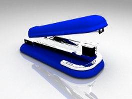 Blue stapler 3d model