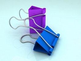 Binder clips 3d model