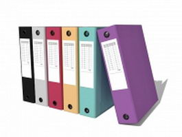 Office work binder 3d model