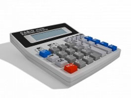 Casio desktop calculator 3d model