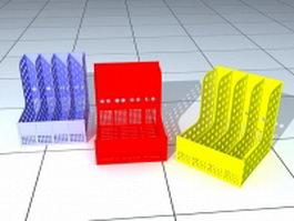 Plastic file holder 3d model