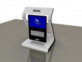 Thinkpad display rack 3d model