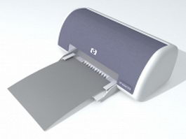 HP laser printer 3d model