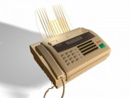 Sharp fax machine 3d model