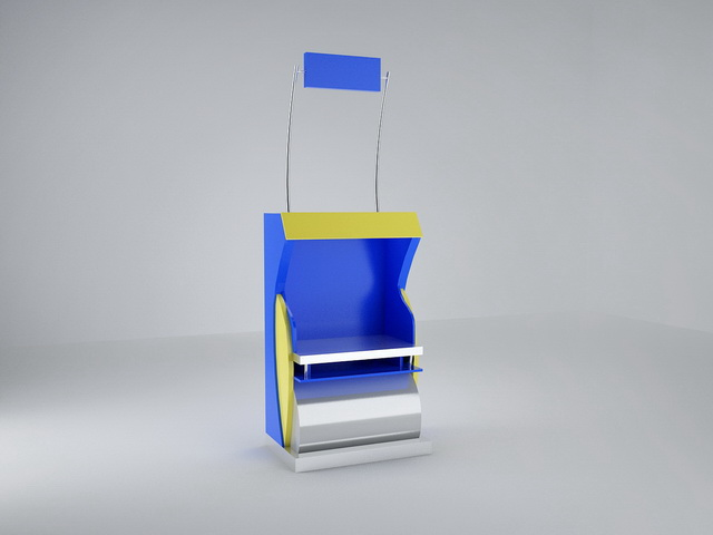 Wood display stand 3d model