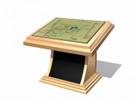 Touch screen information kiosk 3d model