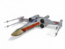 X-wing fighter 3d model