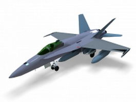 F/A-18 super hornet 3d model