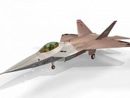Lockheed YF-22 fighter aircraft 3d model
