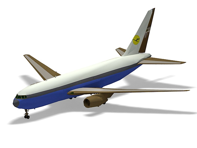 Boeing 767 airliner 3d model 3ds Max files free download