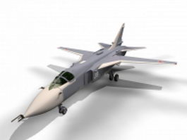Sukhoi Su-24 Fencer attack aircraft 3d model