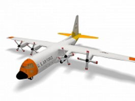 Lockheed Hercules military transport aircraft 3d model