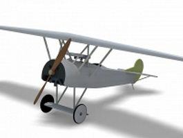 Fokker D7 fighter aircraft 3d model