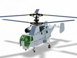 Ka-27 military helicopter 3d model