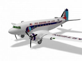 Douglas DC-3 aircraft 3d model