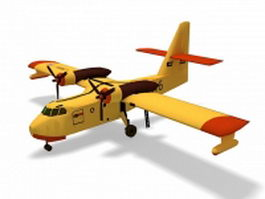 Canadair firefighting amphibious aircraft 3d model