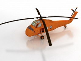 Orange rescue helicopter 3d model