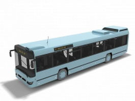 Public city bus 3d model