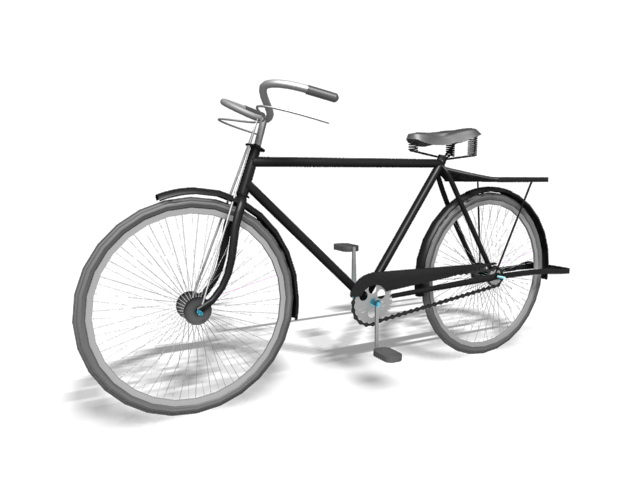 vintage bicycle 3d model 3ds max files free download modeling