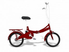 Red city bike 3d model