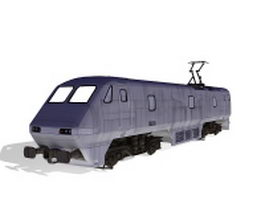 Intercity train 3d model