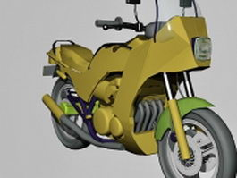 Kawasaki GPZ750 Turbo 3d model