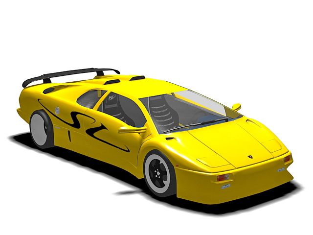 Lamborghini Diablo Sv 3d Model 3ds Max Files Free Download
