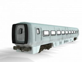 Intercity train car 3d model