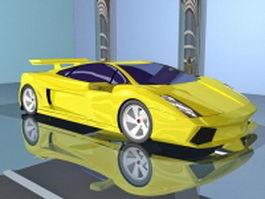 Yellow Lamborghini 3d model