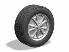 Rims alloy wheel 3d model