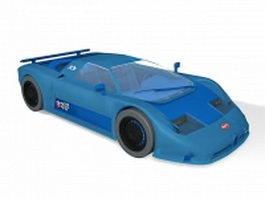 Blue Bugatti EB110 3d model