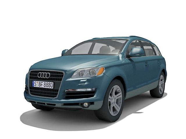 Audi Q7 3d rendering