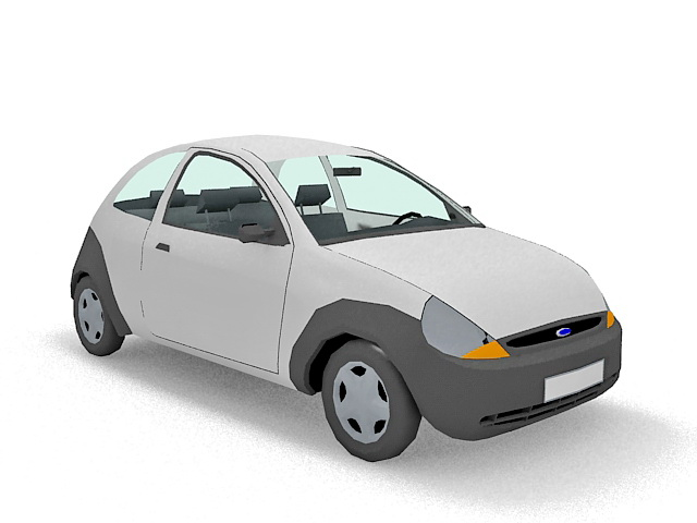 Ford Ka car 3d model 3ds Max files free download - modeling 35159 on