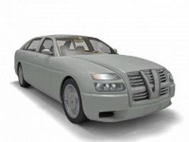 Elegant sedan car 3d model